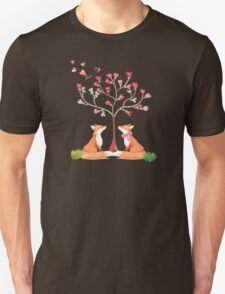 Foxes under a love tree T-Shirt