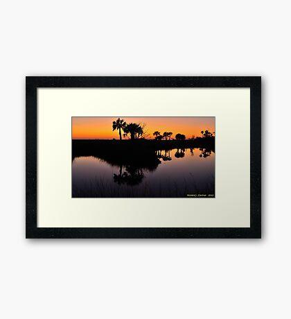 Intense Reflections Framed Print