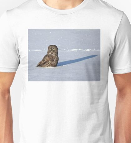 Great Grey Owl casts a long shadow T-Shirt