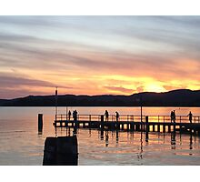 Italy Lake Sunset Photographic Print