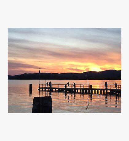 Italy Lake Sunset Photographic Print