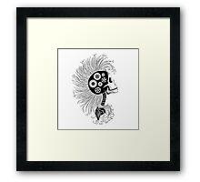 Eco Skull Framed Print