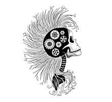 Eco Skull Photographic Print