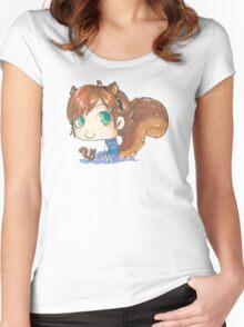 undefeatable squirrels Women's Fitted Scoop T-Shirt