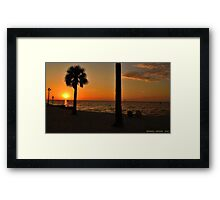 Relaxing at Sunset Framed Print