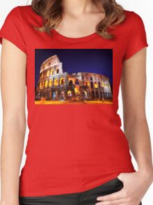 Caput Mundi! Women's Fitted Scoop T-Shirt