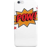 Comicbook Exclamation POW! iPhone Case/Skin