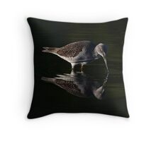 Greater Yellowlegs reflects Throw Pillow