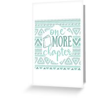 One More Chapter - Pale Blue Tribal Greeting Card