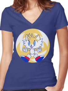Tails Women's Fitted V-Neck T-Shirt
