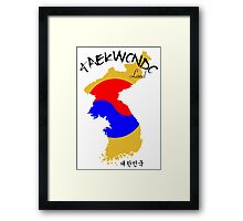 Taekwondo Land - Korean Martial Art Framed Print