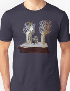 Tumnus and Lucy Narnia book sculpture Unisex T-Shirt