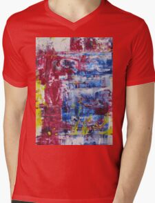 Red sky in the morning shepherds warning - Original Wall Modern Abstract Art Painting Mens V-Neck T-Shirt