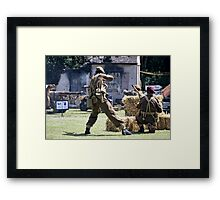 World War 2 Battle Reenactment Framed Print