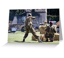 World War 2 Battle Reenactment Greeting Card