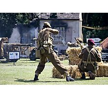World War 2 Battle Reenactment Photographic Print