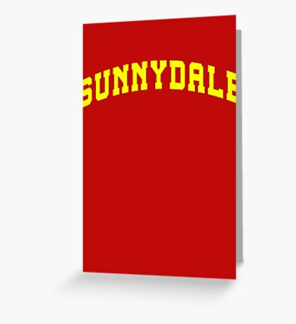 SUNNYDALE - Buffy Movie Greeting Card