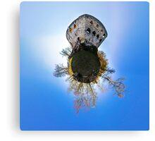 Medieval castle Spesbourg little planet. Corvature of space effect. Touristic concept. Canvas Print