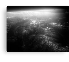 Mountains from the stratosphere Canvas Print