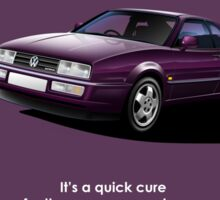 Corrado VR6 Classic Car Advert Sticker