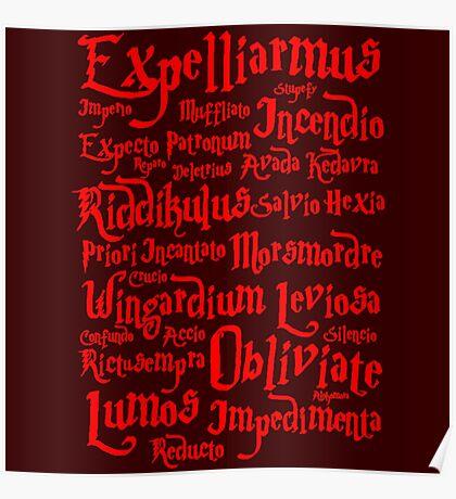 Expelliarmus Spell Quote Poster