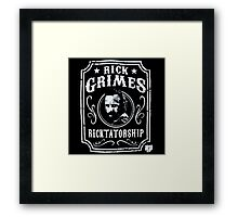 Rick Grimes Ricktatorship Framed Print