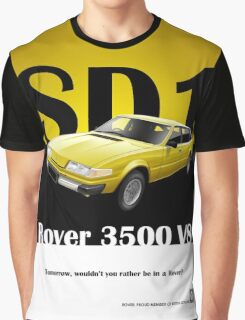 Rover SD1 Classic Car Advert Graphic T-Shirt