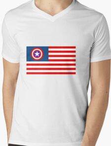 Mr America  Mens V-Neck T-Shirt