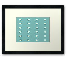 Lemony Love Hearts Framed Print