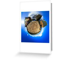 Mont Sainte Odile little planet . Curvature of space effect. Touristic concept. Greeting Card