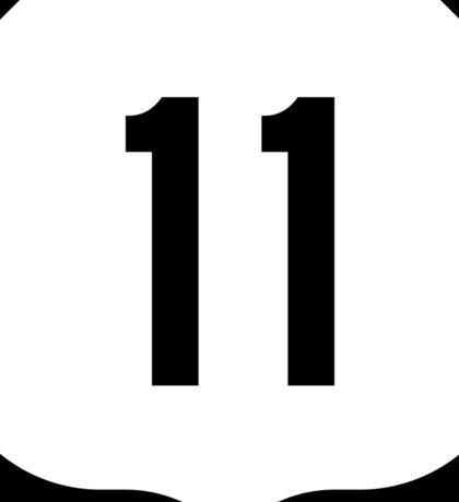 US Route 11 Sign, USA Sticker