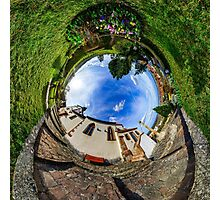 Chapelle Sainte Sebastien little planet. Curvature of space. Touristic concept. Photographic Print