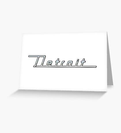 Detroit Greeting Card