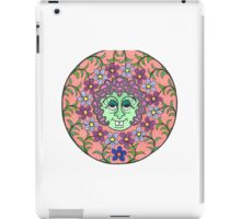 Mandala Face Goofy Green Witch iPad Case/Skin