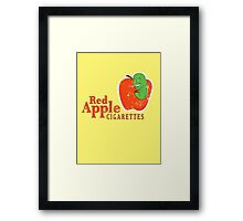 Red Apples Cigarettes Framed Print