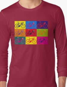 Bike Andy Warhol Pop Art Long Sleeve T-Shirt