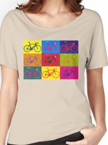 Bike Andy Warhol Pop Art Women's Relaxed Fit T-Shirt