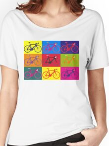 Bike Andy Warhol Pop Art Women's Relaxed Fit T-Shirt