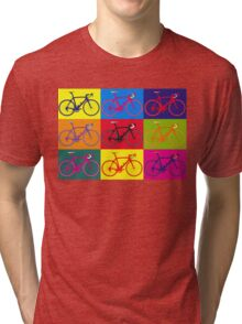 Bike Andy Warhol Pop Art Tri-blend T-Shirt