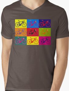 Bike Andy Warhol Pop Art Mens V-Neck T-Shirt