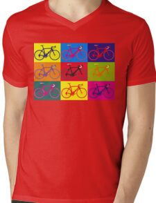 Bike Andy Warhol Pop Art Mens V-Neck T-Shirt