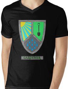 Gardening Heraldry Mens V-Neck T-Shirt