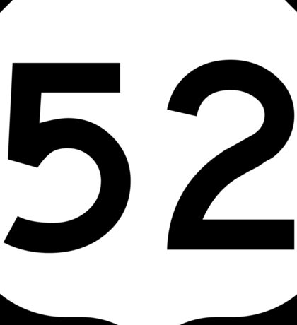 US Route 52 Sign, USA Sticker