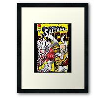 Saitama Comics (Lord Boros Variant) Framed Print