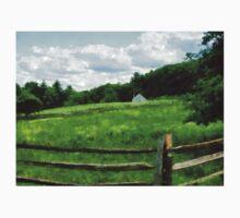 Field Near Weathered Barn Baby Tee