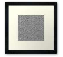 White Noise Framed Print