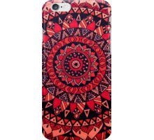 Red & Orange Mandala iPhone Case/Skin