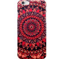 Red & Orange Mandala iPhone Case/Skin