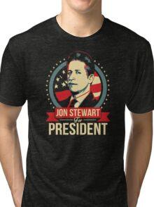 jon stewart president Tri-blend T-Shirt