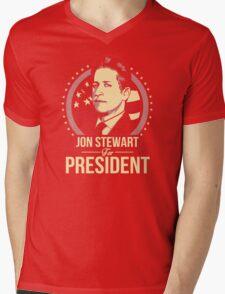 jon stewart president Mens V-Neck T-Shirt